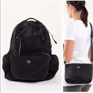Lululemon black Travel/ work backpack